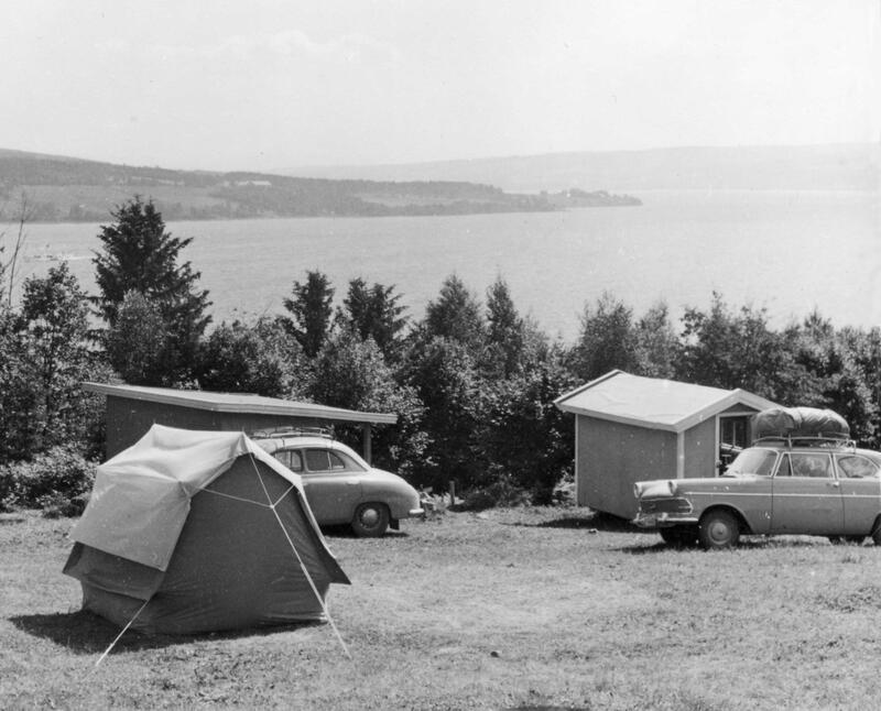 Kolberg Camping, 1962, Gjøvik. Foto: Nelly Westby Knutsen/Mjøsmuseet. (Foto/Photo)