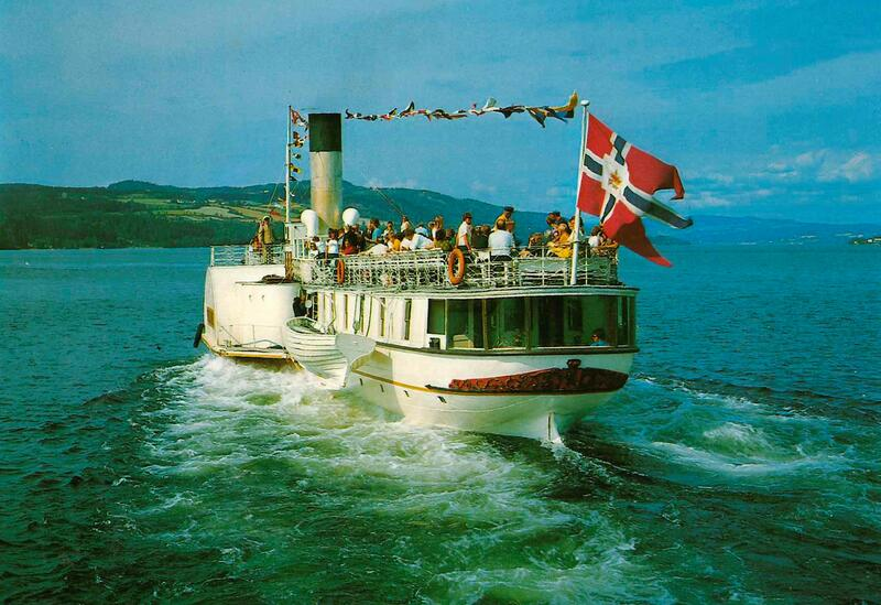 Skibladner på Mjøsa. Foto: Mittet kunstforlag / Mjøsmuseet. (Foto/Photo)