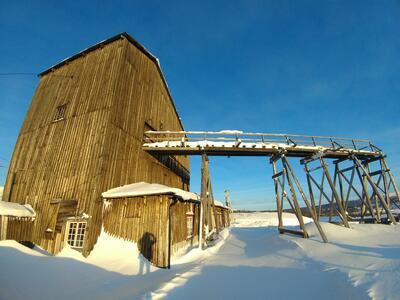 Heishus Olavsgruva vinter. Foto/Photo