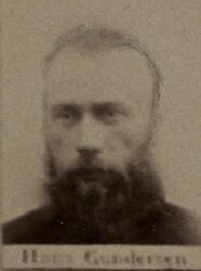 Borhauer Hans Gundersen (1845-1889) Omkom ved fall i Armen gruve (Foto/Photo)