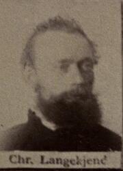 Pukkverksarbeider Christian T. Langkjend (1854-1911) (Foto/Photo)