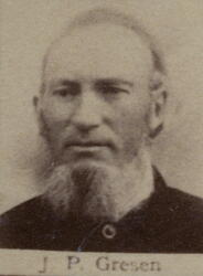 Pukkverksarbeider John P. Gresen (1831-1899) (Foto/Photo)