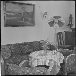Familjen Petterssons hem, troligen Hemvägen 34. 19 mars 1950