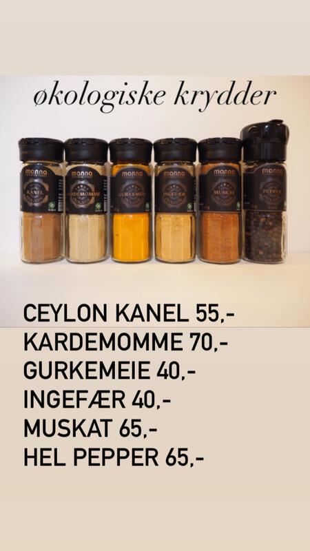Økologiske krydder på glass (Foto/Photo)