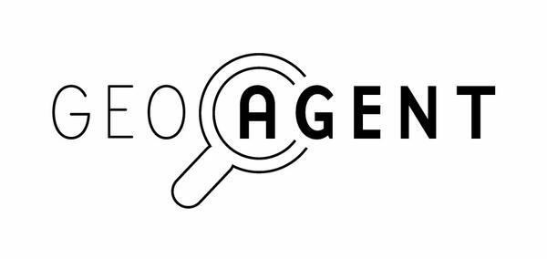 Logo Geoagent svart. Foto/Photo