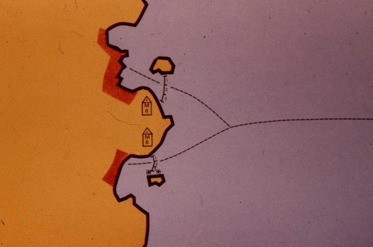Minsyystem M6, exempel på gruppering