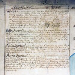 Charta öfver Westerås stad uti Westmanneland författad 1751