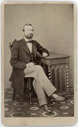Kabinettsfotografi - magister Medén, Stockholm 1864