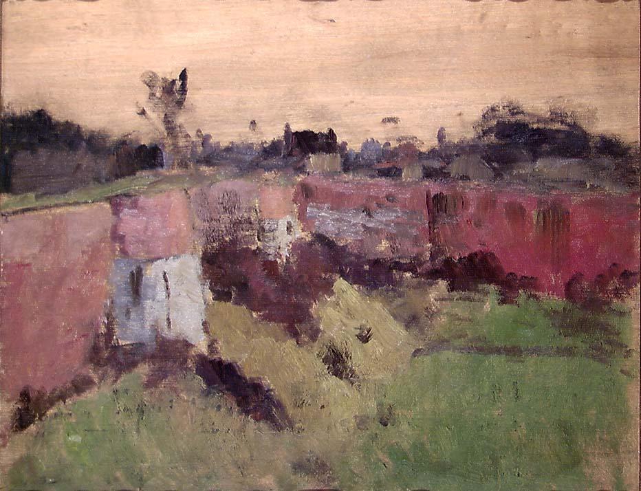 Utenfor festningsmuren, Montreuil [Maleri]