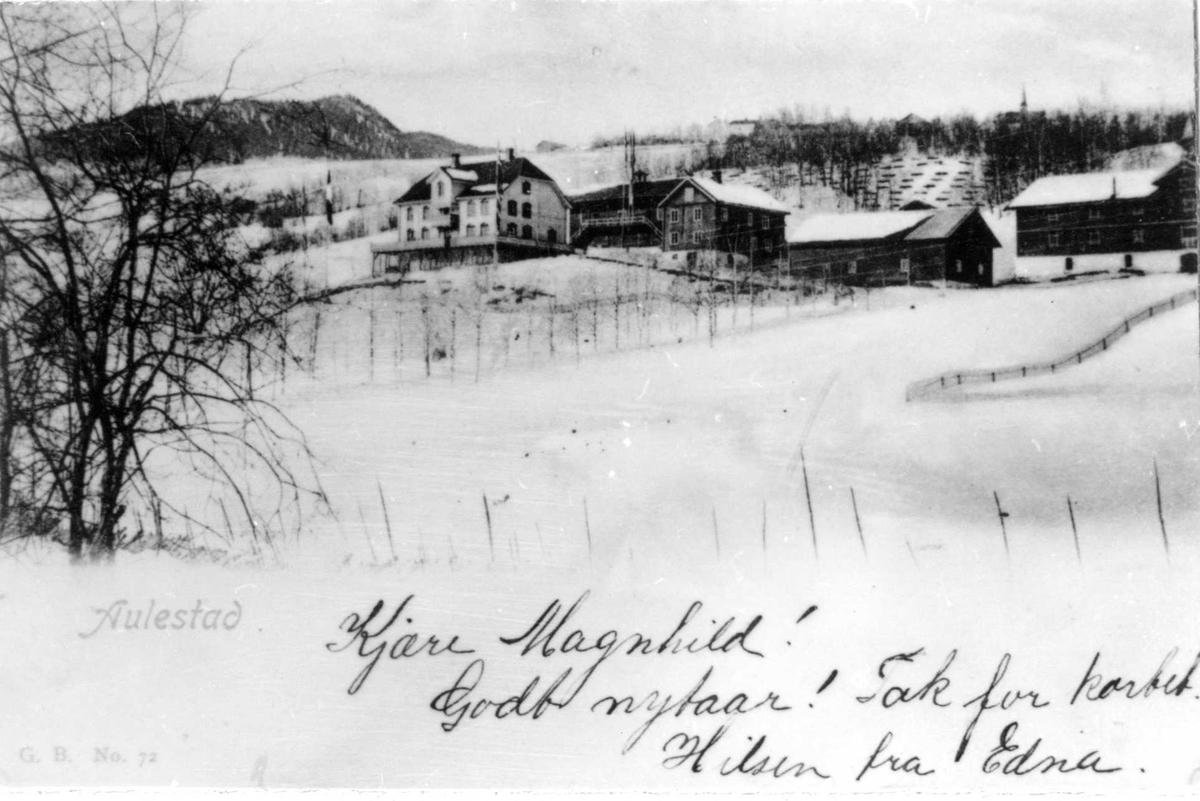 Aulestad, vinter, postkort
