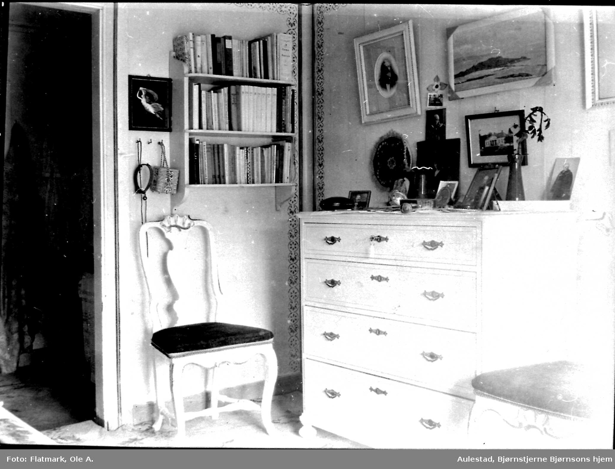 "Aulestad, interiør, Dagny-værelse, ""Kassa"","
