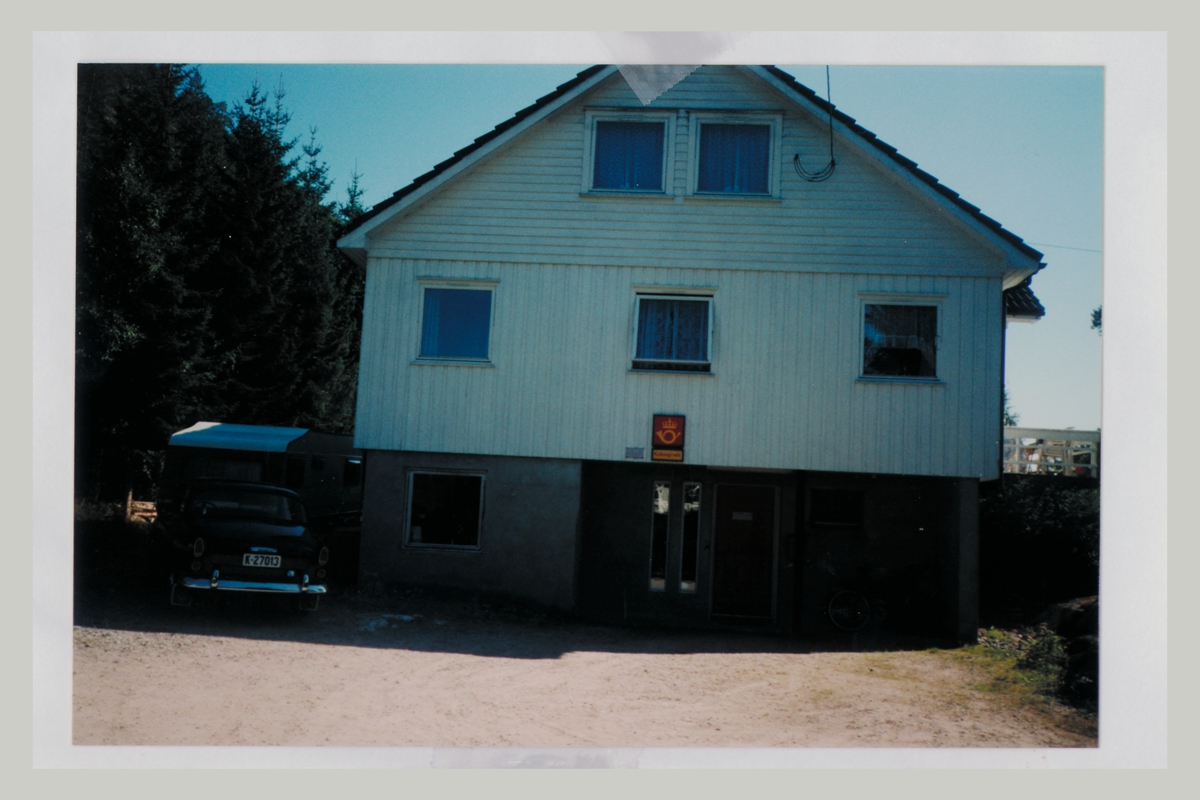 eksteriør, poståpneri, 4545 Kollungtveit, postskilt