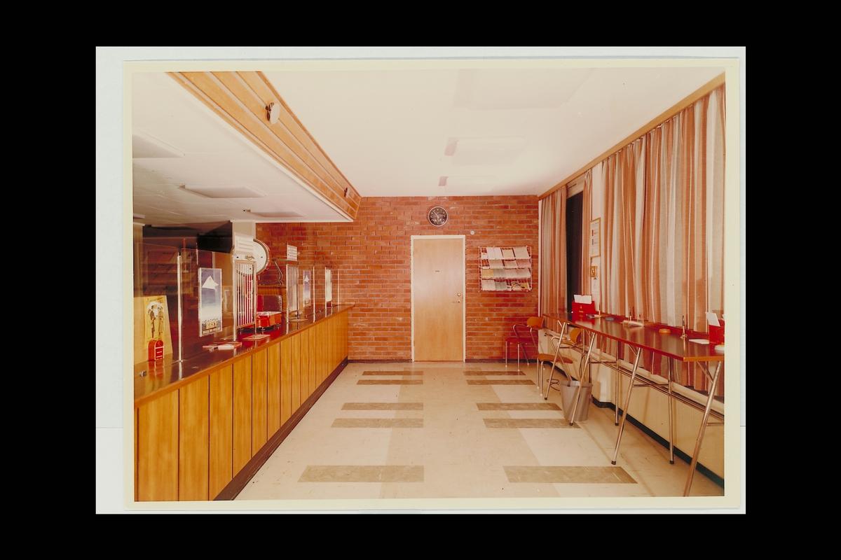 interiør, postkontor, 6770 Nordfjordeid, publikumshall