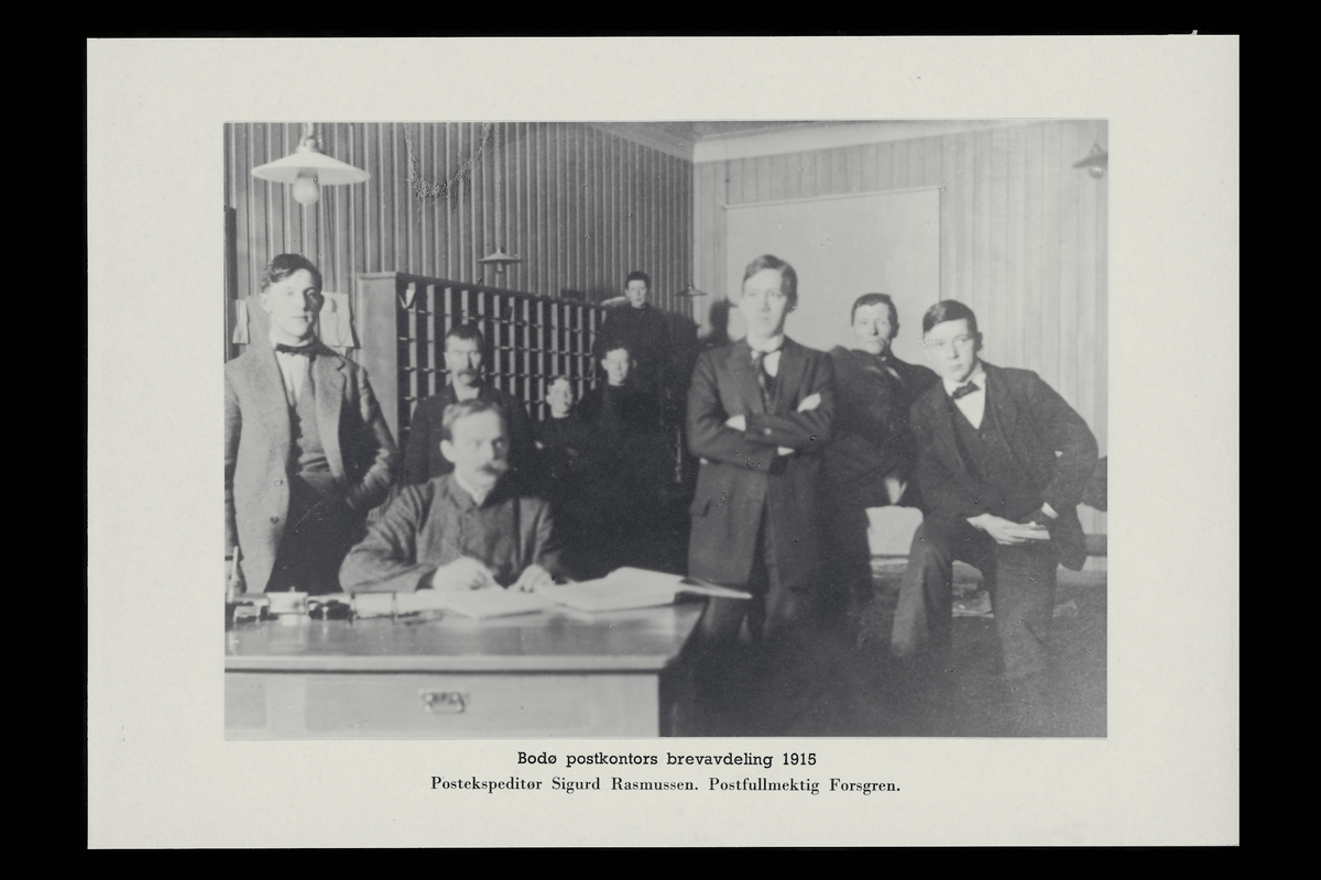 interiør, postkontor, 8000 Bodø, personale, brevavdeling