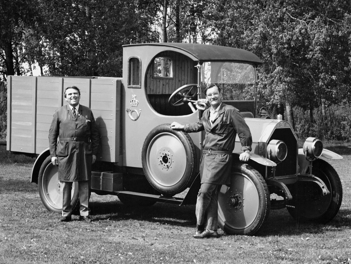 transport, bil, lastebil, Fiat Lorry 15 Ter, postemblem, to menn