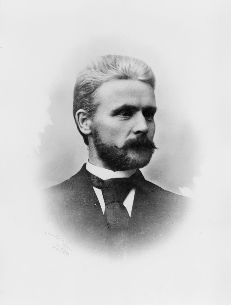portrett, postmester, Søren Sørenssen