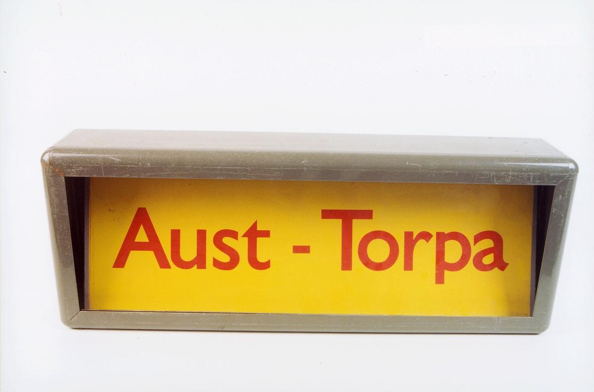 postmuseet, gjenstander, skilt, stedskilt, stedsnavn, Aust-Torpa