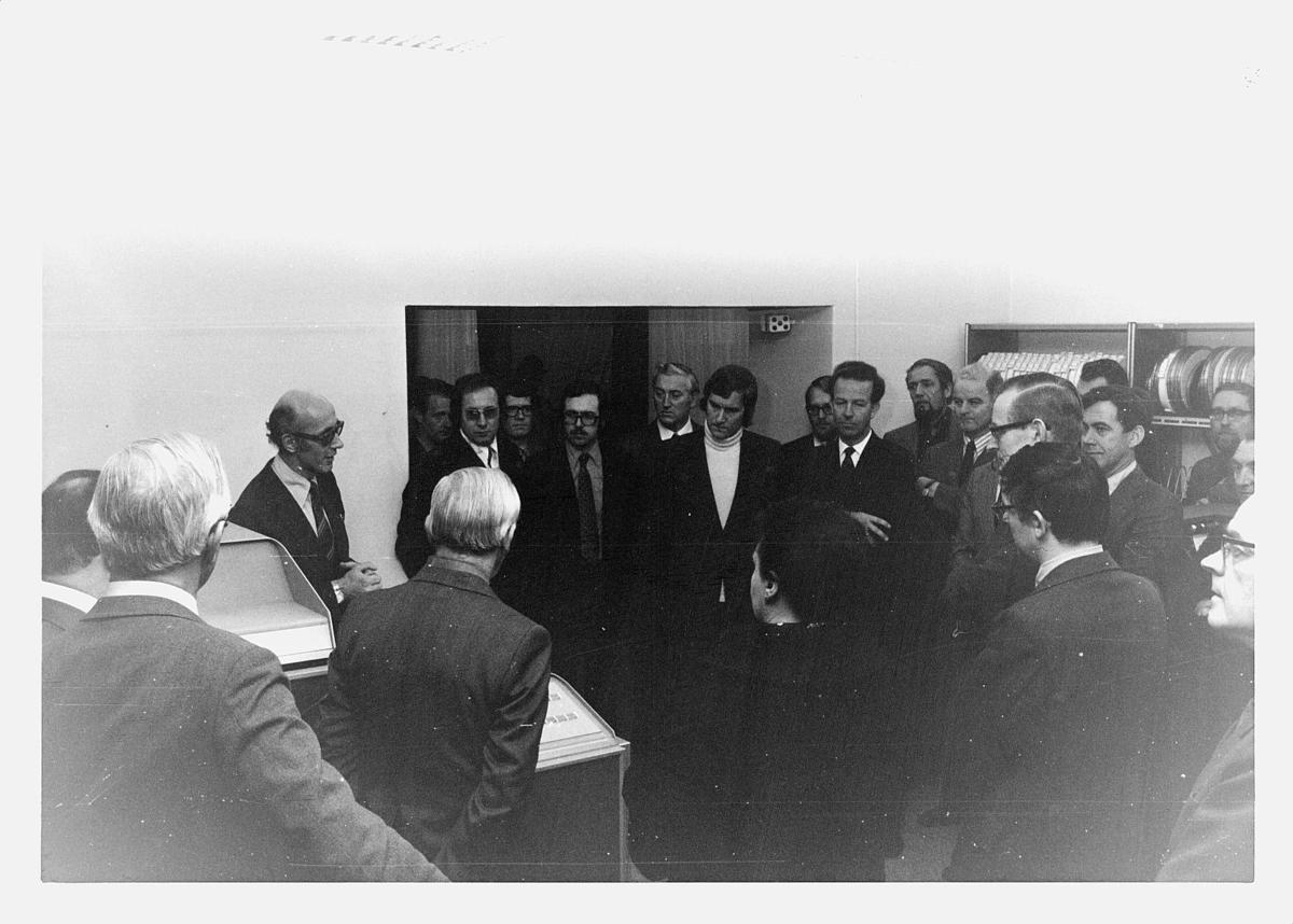 Datakontoret, åpning, EDB-anlegg, november 1974