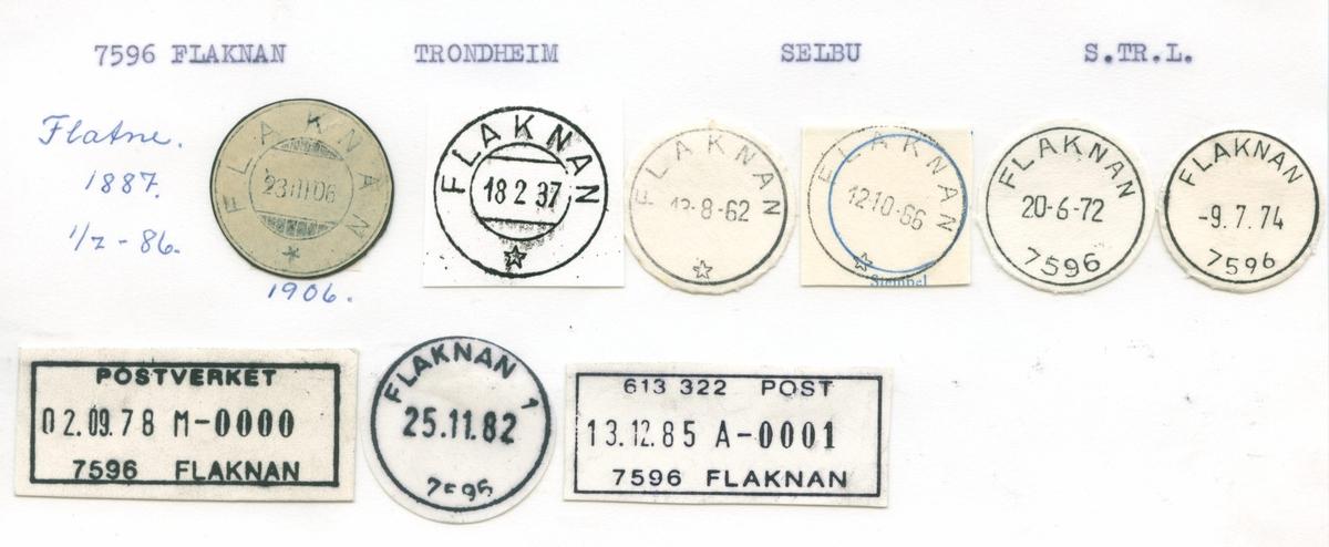 Stempelkatalog, Flaksvatn, Birkenes, Aust Agder