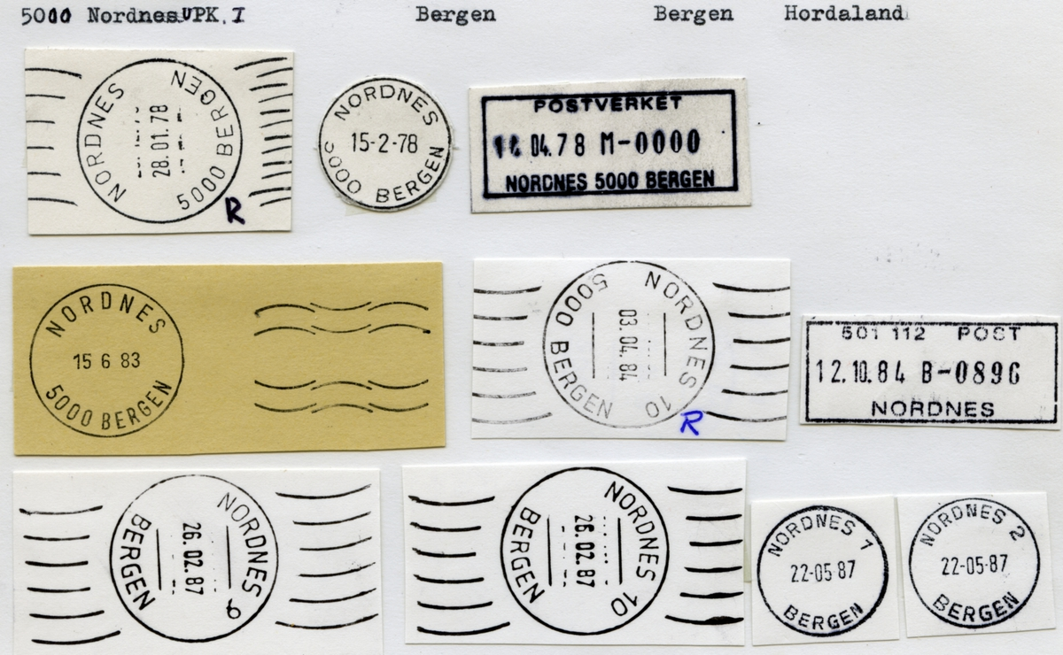 Stempelkatalog 5000 Nordnes, (Bergen-Nordnes), Bergen, Hordaland