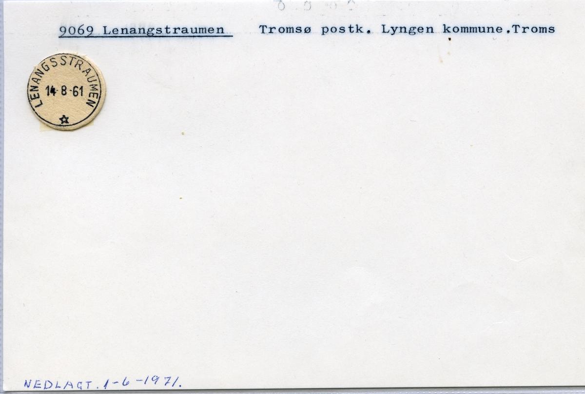 Stempelkatalog 9069 Lenangstraumen, Tromsø, Lyngen, Troms