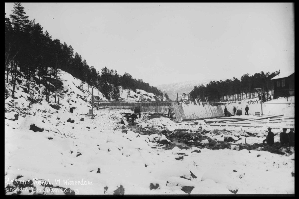 Arendal Fossekompani i begynnelsen av 1900-tallet CD merket 0446, Bilde: 49 Sted: Småstraumene Beskrivelse: Regulering