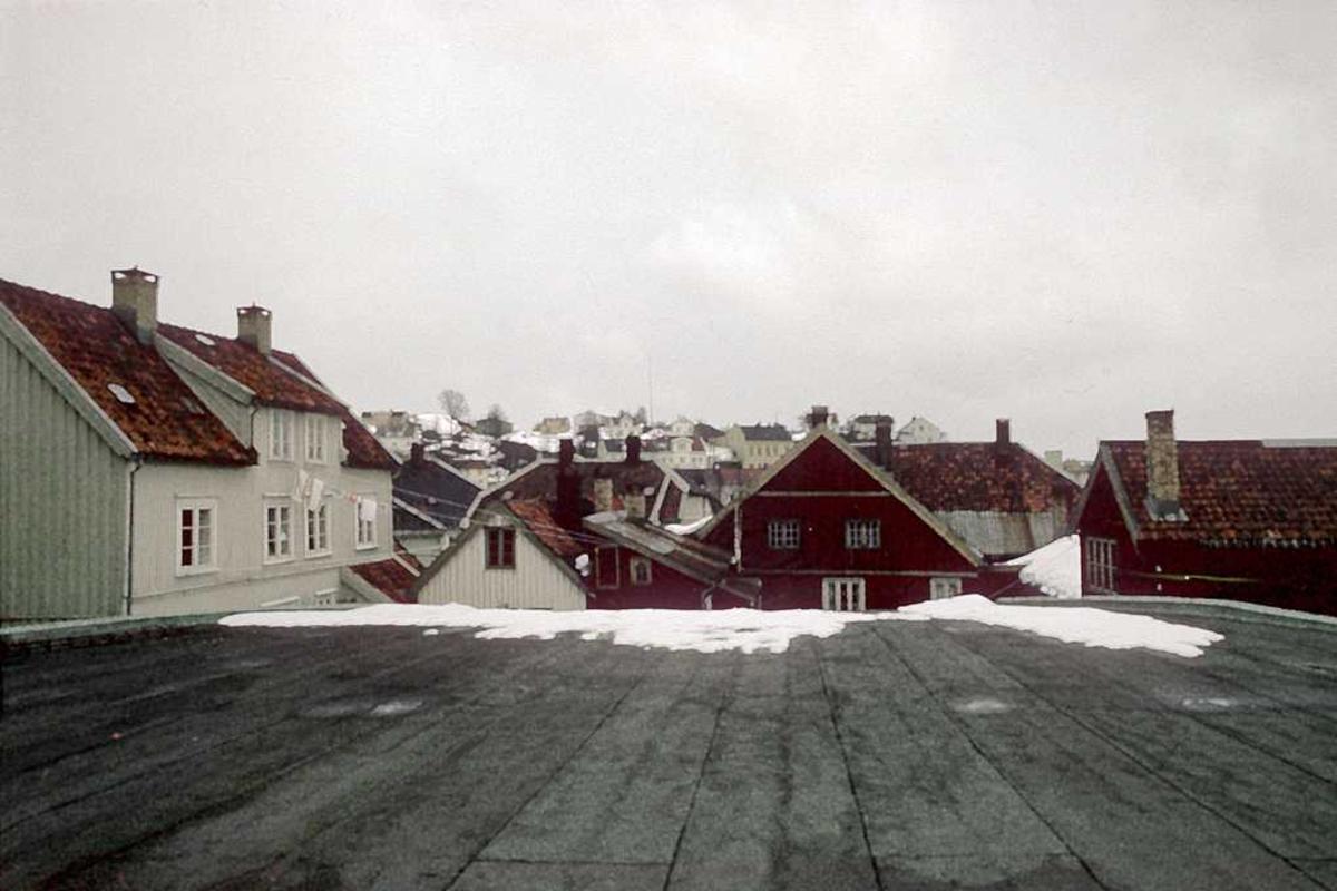 Utsikt fra taket på Saga kino. Fagfor. hus.