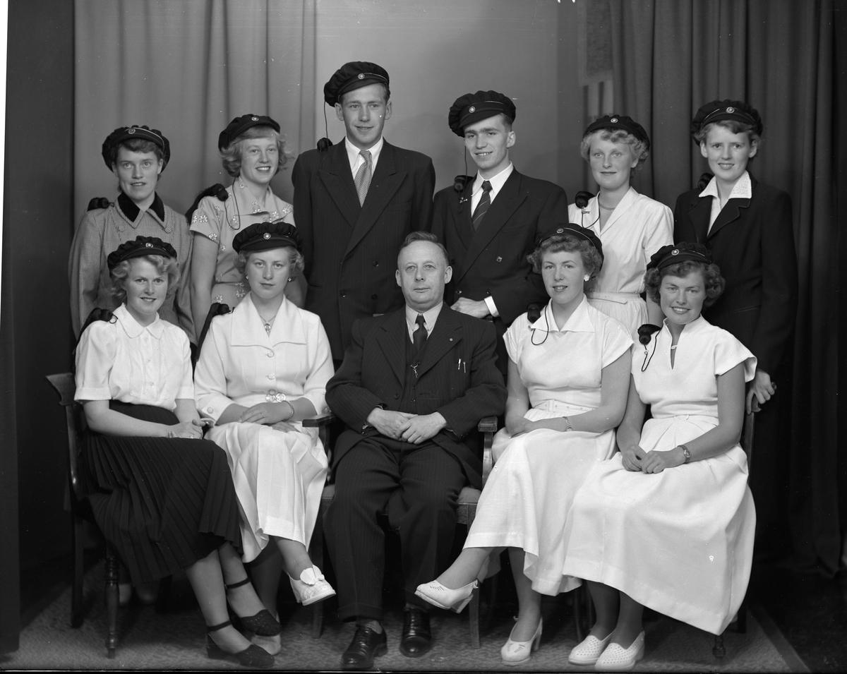 Dahlske skole - Gymnas-studentene i 1952