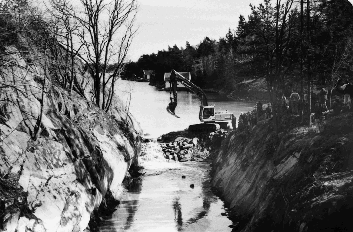 Vannet går i Kassenkanalen