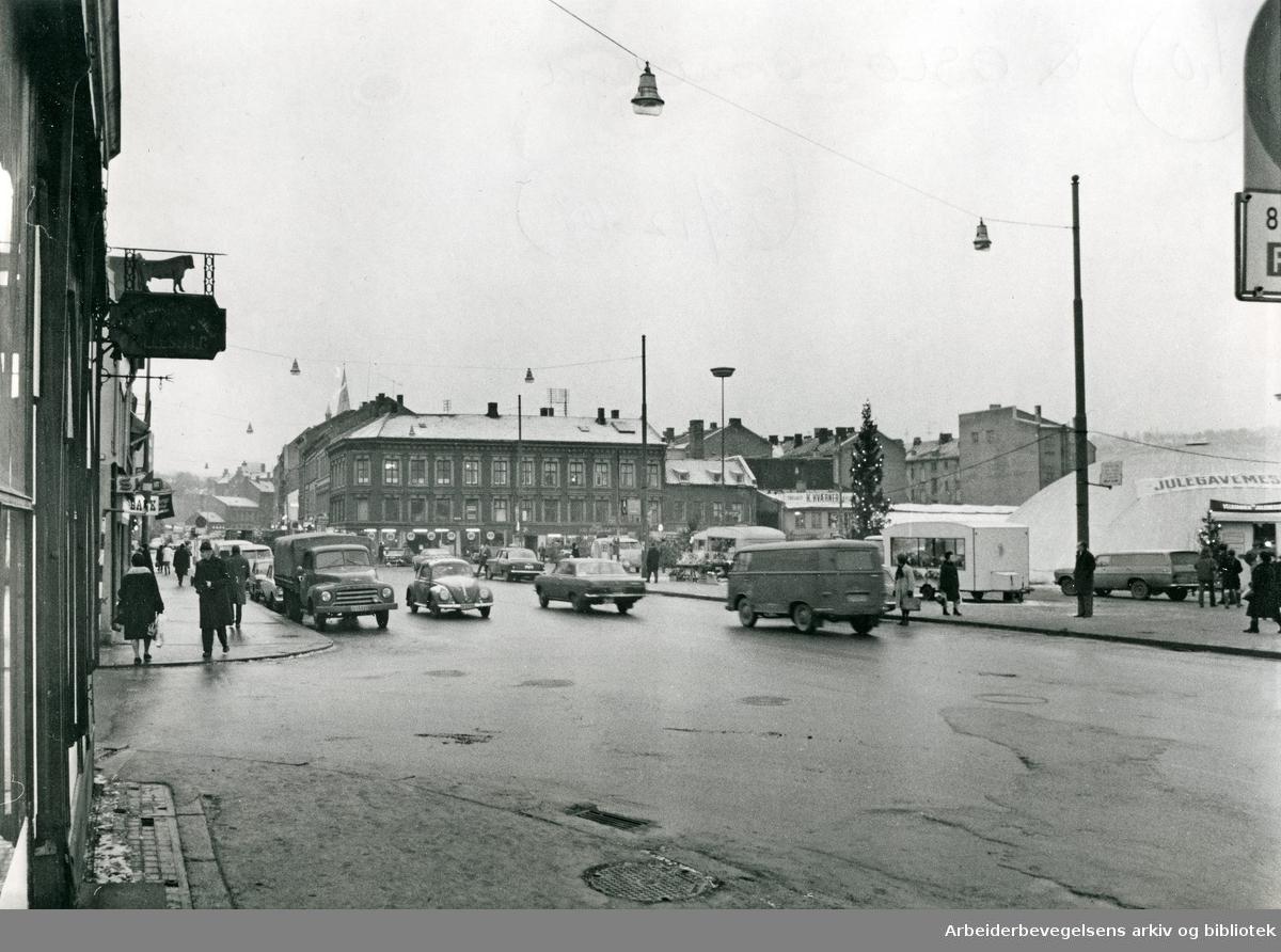 Grønland torg, desember 1968.