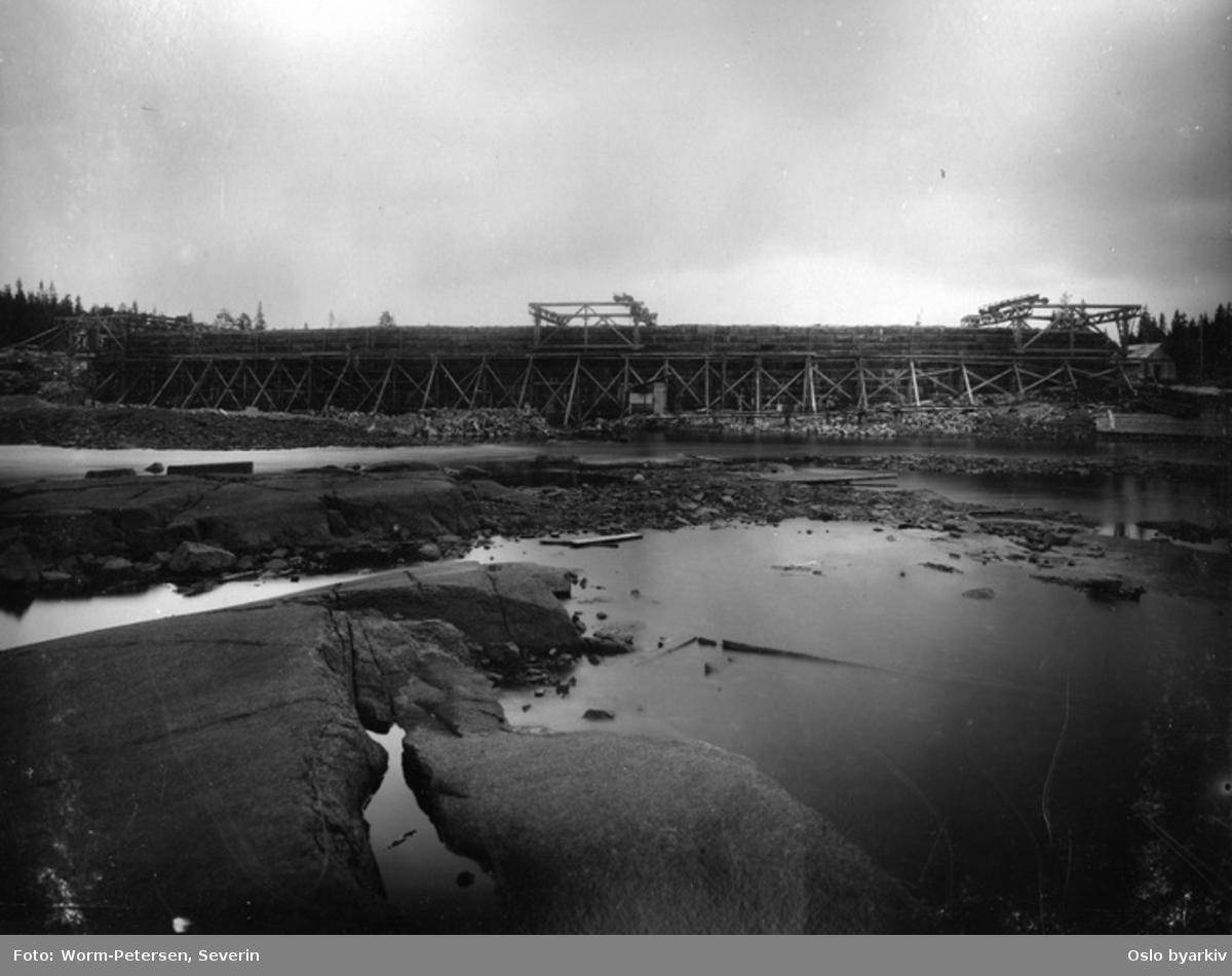 Bygging av Ørfiskedammen