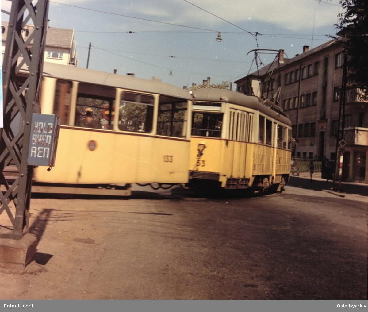 Bergen Elektriske Sporveier, linje 1, vogn 53-133.
