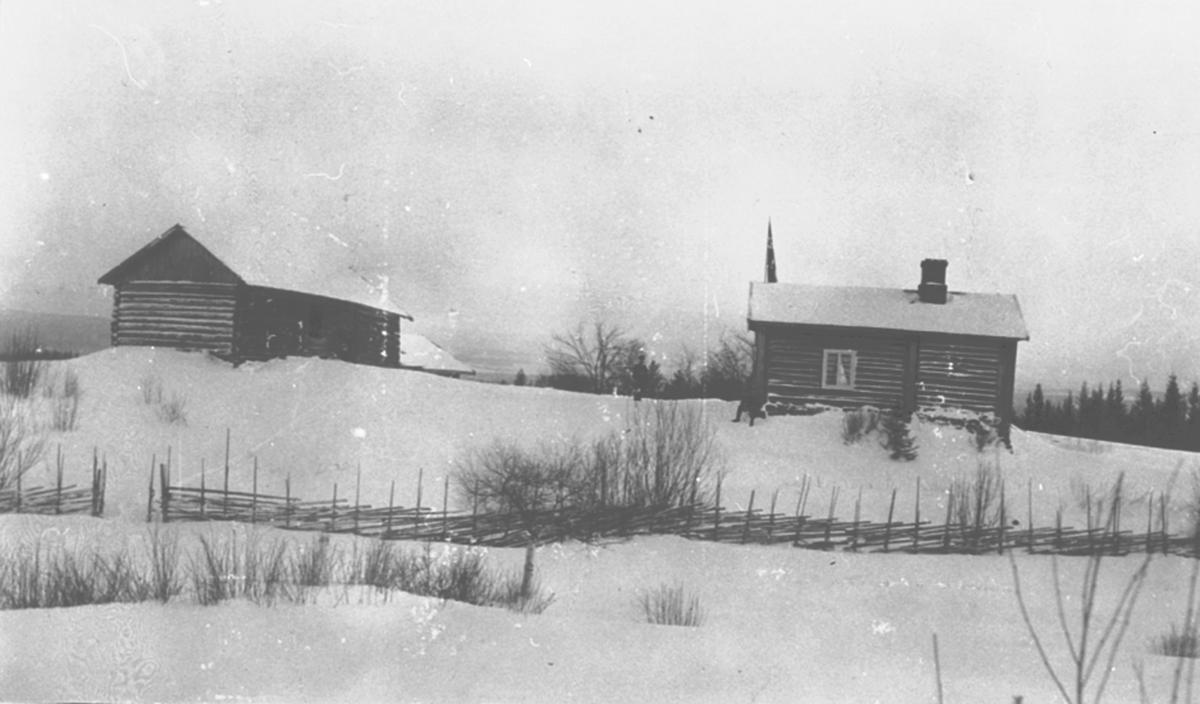"""Eksteriør, hytte. """"Kråkereiret"""", Furnesåsen, Fritidsbolig for gullesmed Berger Kristiansen, Hamar."""