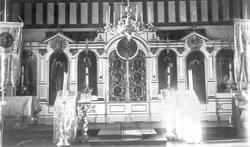 Billedveggen (ikonostasen)  i Boris Glebs kirke