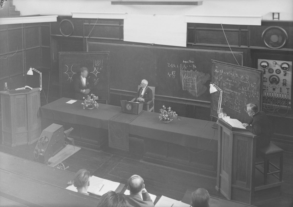 Ingeniør Aksel Lyder Lydersens doktordisputas ved Norges Tekniske Høyskole