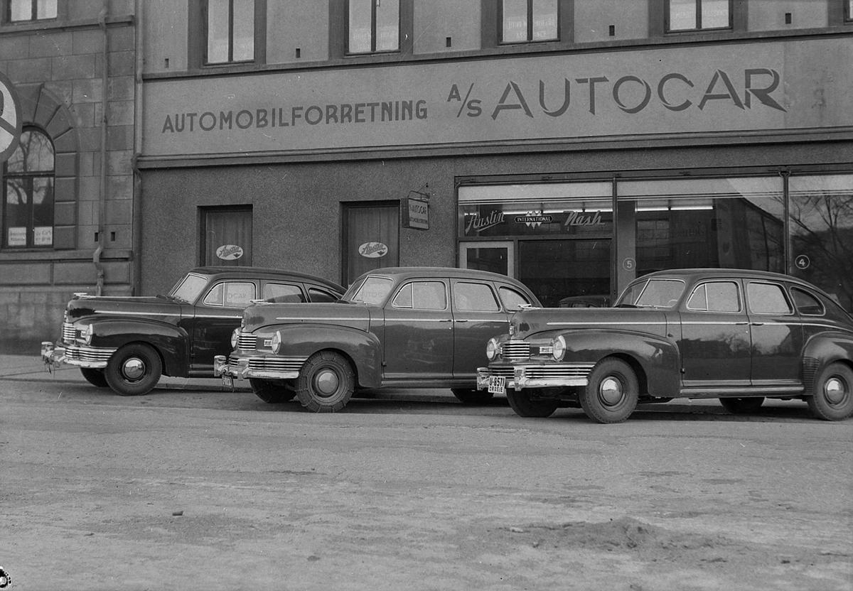 Biler utenfor A/S Autocar