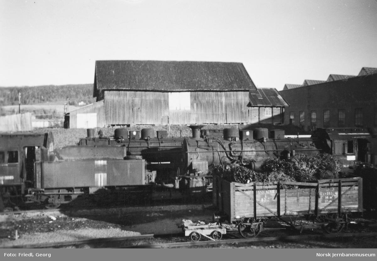 Hensatte damplokomotiv type 61a på Verkstedet Grorud