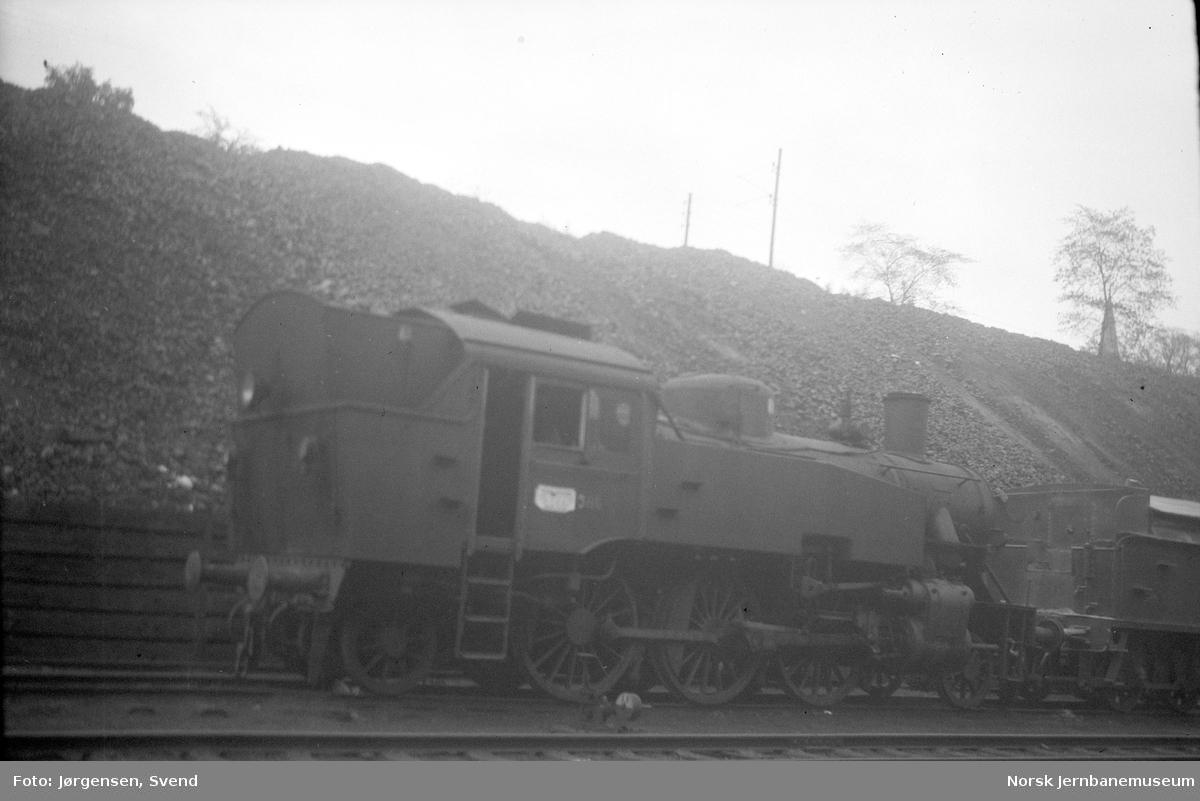 NSB damplokomotiv type 32b nr. 386 i Lodalen, Oslo Ø