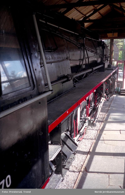 Jernbanemuseet - damplokomotiv type 49c nr. 470
