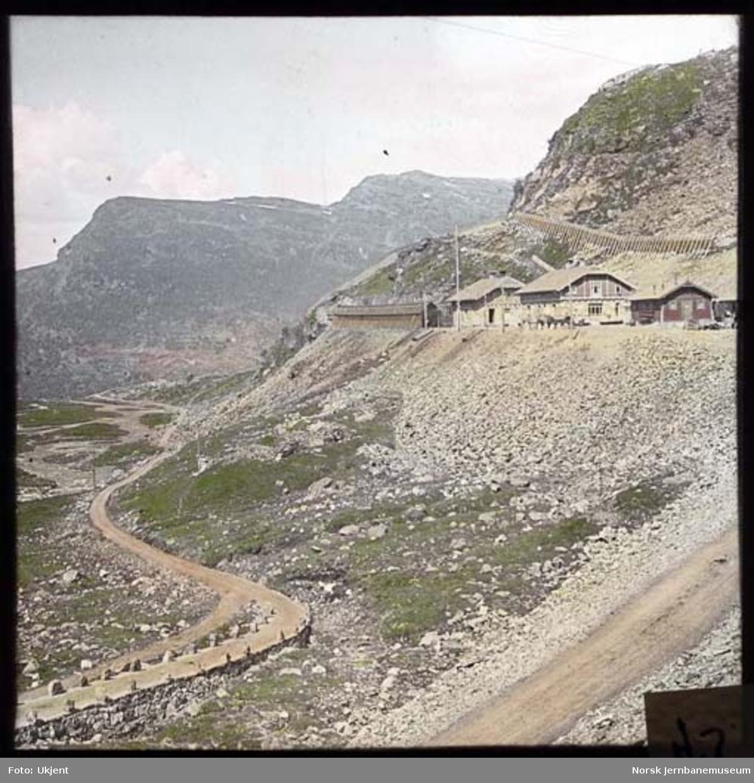 Myrdal stasjon med utsikt mot Flåmsdalen