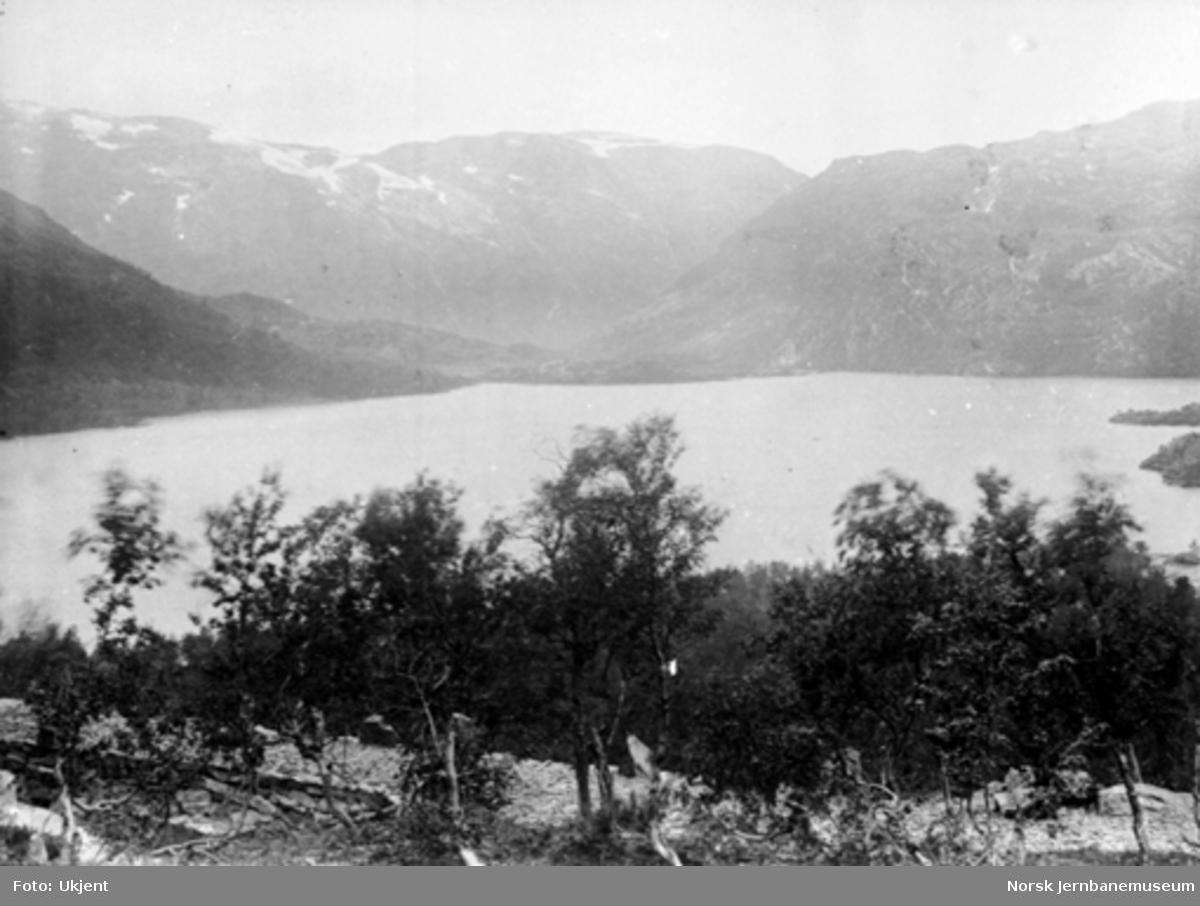 Bergensbanens anlegg; parti ved Reinungavatnet