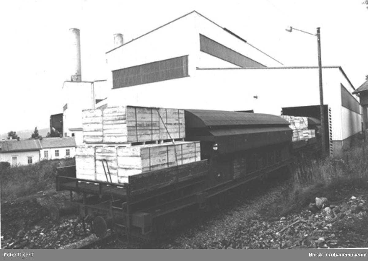 NSB spesialvogn litra Tadss nr. 583 9009 for transporter for Meråker Smelteverk