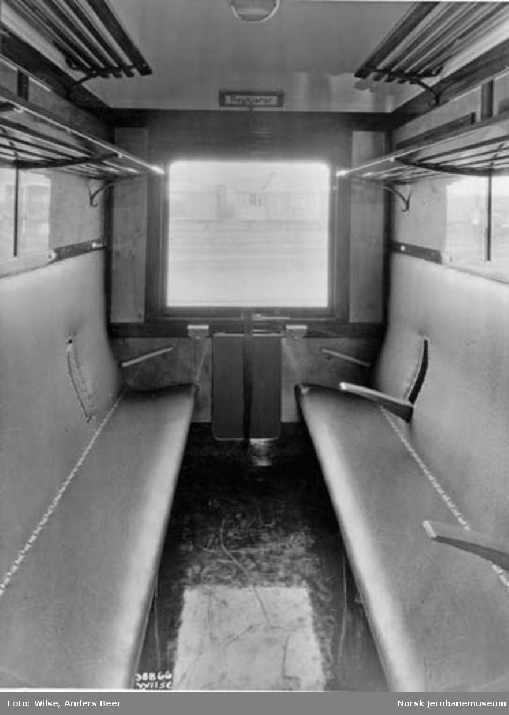 Interiør fra 3. klasse-kupevogn litra Co2b