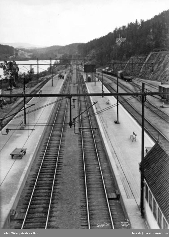 Sandvika stasjon, utsikt østover fra stillverkshuset