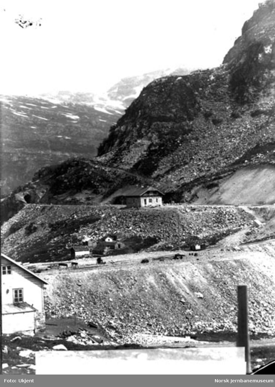 Stasjonsanlegget på Myrdal under arbeid