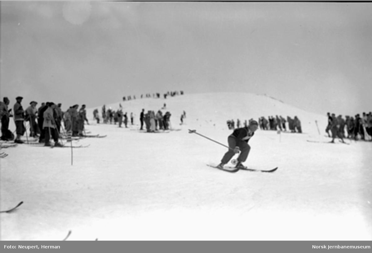 Skiløpere i nærheten av Finse