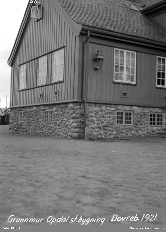 Dovrebanens åpning på Oppdal stasjon