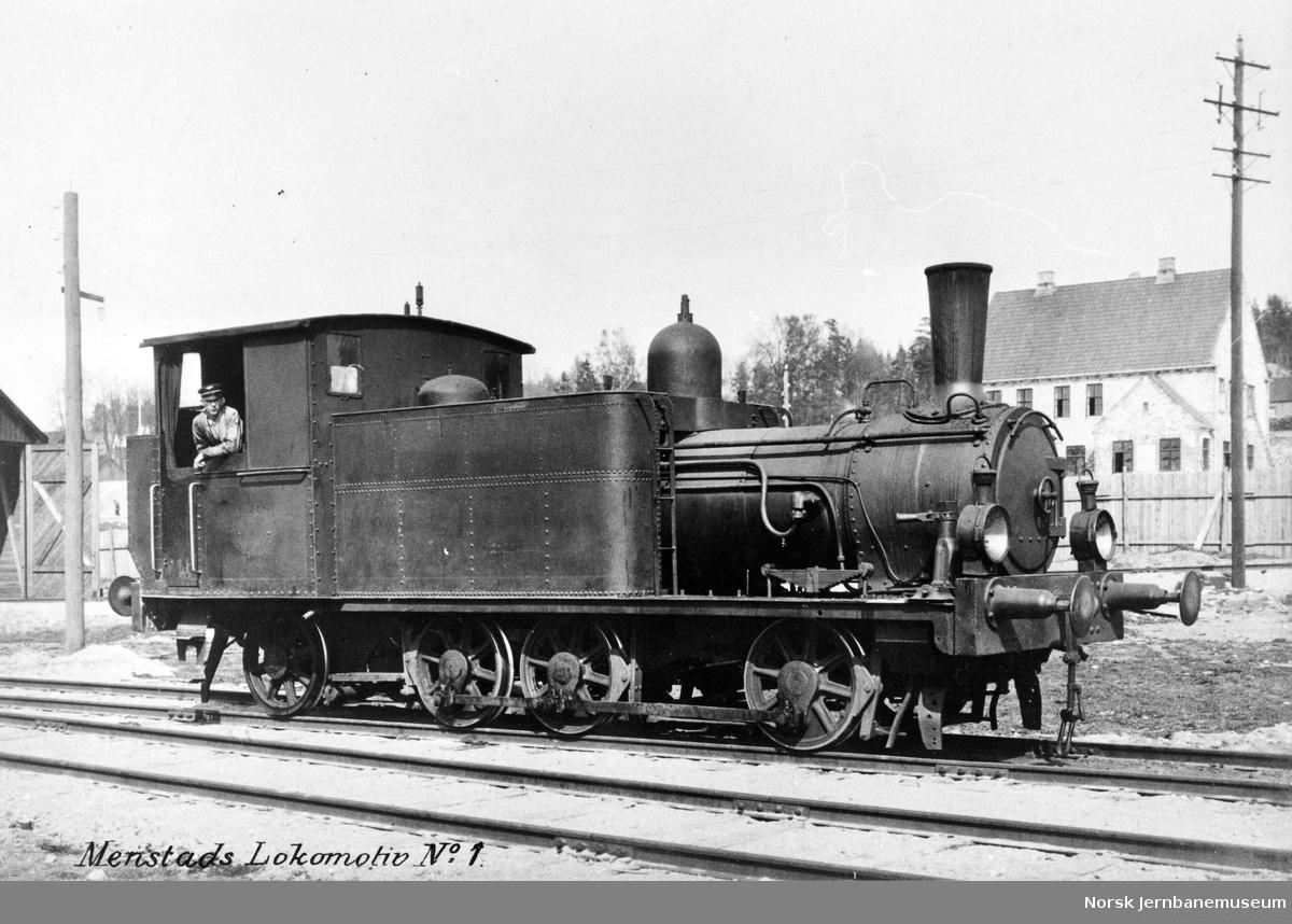 """Norsk Hydros damplokomotiv """"Menstad nr. 1"""""""
