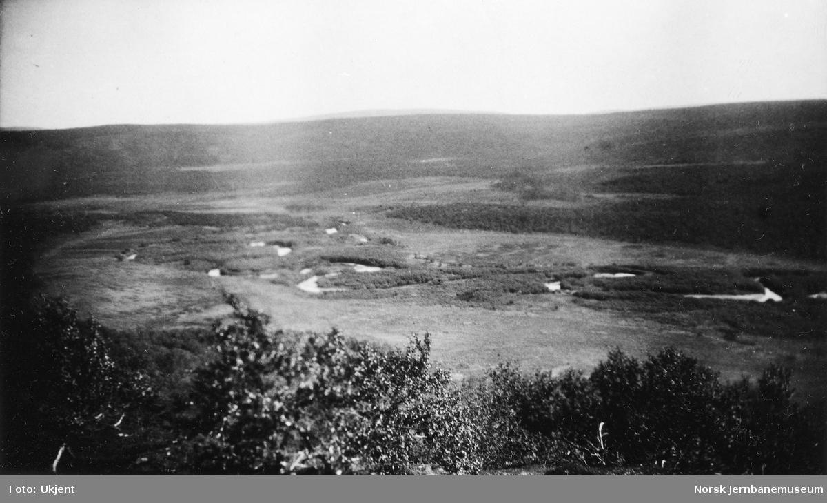 Oversiktsbilde ved Luovttejohka