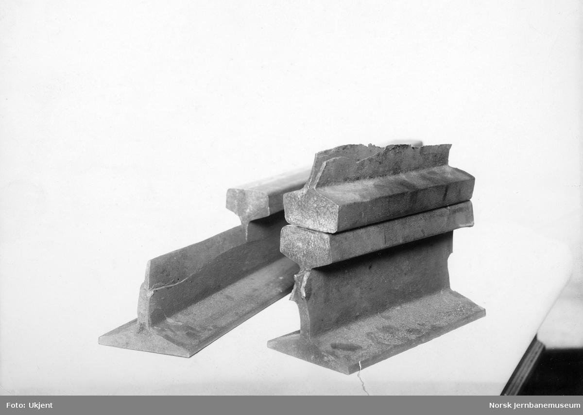 Skinnebrudd, 40 kgs stålskinne